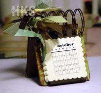 Cute mini calendar tutorial                                                                                                                                                                                 More