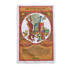 <p>Torchon Recette vintage pour la marque Préfontaines avec la recette de cibelotte de lapin et jolis dessins très seventies, en pur coton, fabriqué en France, état d'usage. Pour faire un cadeau original et utile ! On aime son côté kitsch et utile à la fois !</p>