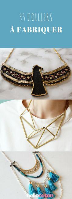 DIY : 35 colliers à fabriquer soi-même ! #DIY #colliers