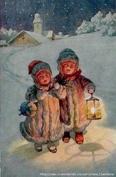 Мобильный LiveInternet Новогодние открытки с Детками.Винтаж. | ЗАБЕЛОЧКА - Дневник ЗАБЕЛОЧКА |