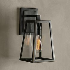 60w Minimalist Artistic Wall Light With Black Metal Structure In E27 E26 Base Usd