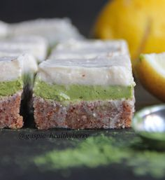 Delicious Raw Lemon Curd & Matcha Bars (1960 x 2136) [OS] https://i.redd.it/a0ug0rx1hdvz.jpg