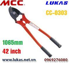 Thông số kỹ thuật của kìm cắt dây cáp xoắn 1065mm - 42 inch, CC-0303.  Chiều dài: 1065mm - 42 inch. Trọng lượng: 9kg. Lưỡi cắt dự phòng có thể mua thêm: CCE0303. Tải trong cắt lớn nhất: 50mm hay 2 inch.