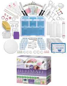 I used this for a cake decorating course and I didn't have to buy any extra supplies. Oddly it isn't that heavy. Now, I switched out some stuff & it is perfect for me! =D