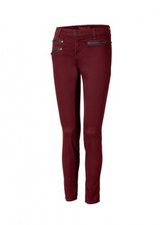 How To Dress For A Top Heavy Body Shape - Woman And Home - J Brand Lava bordeaux triple zip Zoey skinny jeans, £248  Show off your enviable pins in a pair of slim-fit jeans. This J Brand pair have a higher waist to hold in your tummy and with lycra built in, will pull your figure into shape. Wear with floaty tops and blouses for maximum appeal.