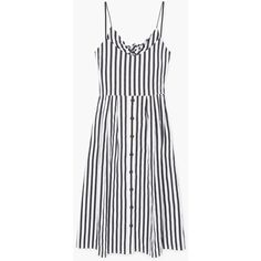 MANGO Striped cotton dress (240 PLN) ❤ liked on Polyvore featuring dresses