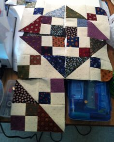 Love the colors in these quilt blocks