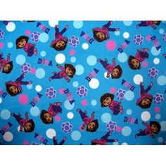 SheetWorld Fitted 100% Cotton Flannel Pack N Play Sheet (For Graco), Dora Blue