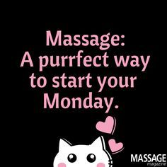 We hear you are looking for the purrrrrrfect massage! #HappyMonday #Massage #massagetherapy #massagetherapist