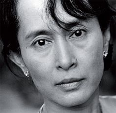 Aung San Suu, winner of the Nobel Peace Prize