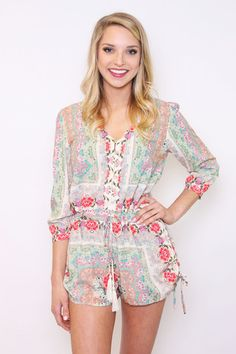 Blossom & Bloom Printed Button Up Romper