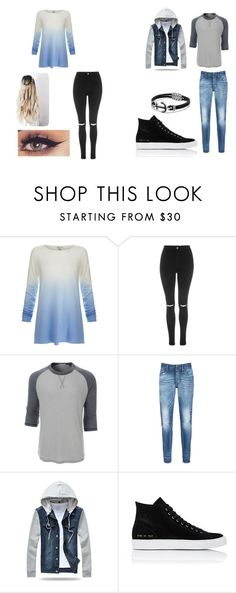 """""""Couple"""" by bluelover1803 on Polyvore featuring Joie, Topshop, LE3NO, Denham, Common Projects, David Yurman and couplegoals"""