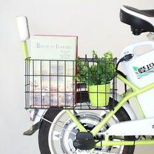 Urban Bike Bicycle Grocery Commuter Side Mount Wire Black Folding Rear Basket HG
