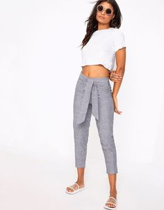 Prettylittlething Stripe Trousers