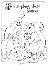 to everything there is a season coloring page - Childrens Colouring