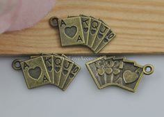 Hey, I found this really awesome Etsy listing at https://www.etsy.com/listing/230779865/30pcs-poker-charms-13x24mm-antique-brass