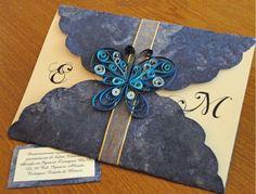 Invitaciones decoradas con filigrana de papel