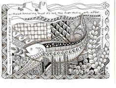 Zentangle Fish by Laurie Beaverhausen
