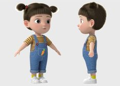 3d Model Character, Character Design, Cute Girls, Little Girls, Ramadan Lantern, Cute Cartoon Pictures, 3d Animation, Girl Cartoon, Rigs