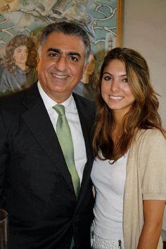Reza Pahlavi (Pretender) Crown Prince of Iran and his eldest daughter Noor Pahlavi.