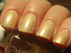 Essie As Gold as it Gets over China Glaze Chin-Chilla Vanilla