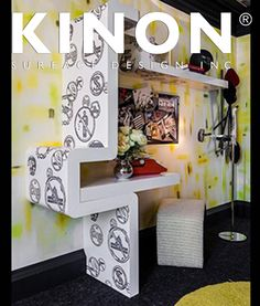 The 2013 Decorators Showcase displays Kinon resin surfaces as gorgeous decorative surface material. Kinon is a unique handmade product used by interior designers worldwide for residencies, retail spaces, hotels and more. The Kinon Surface Design website is perfect for finding inspiration and ordering a sample of Kinon. #materials #interiordesign #modern