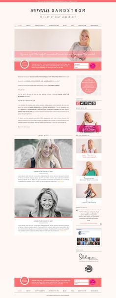 Branding and website design by Truth + Beauty Studios. Custom design for Serena Sandstrom using WordPress.