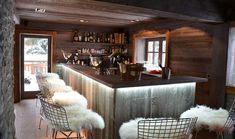 Luxury Ski Chalet in Megeve for sale Chalet Design, Chalet Style, Chalet Chic, Lodge Style, Chalet Interior, Bar Interior, Interior Design, Design Design, Alpine Chalet