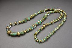MOCHE culture North coast 100 – 800 AD  Necklace 100-800 AD gold, opal, quartz, emerald