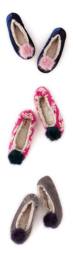 Lotus HARRIET Ladies Womens Warm Cozy Soft Fleecey Comfy Pom Pom Full Slippers