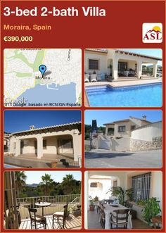 3-bed 2-bath Villa in Moraira, Spain ►€390,000 #PropertyForSaleInSpain