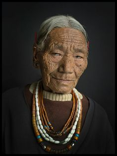 iseo58: Konyak woman, Mon district, Nagaland, Northeast India by Jean-Christian Cottu