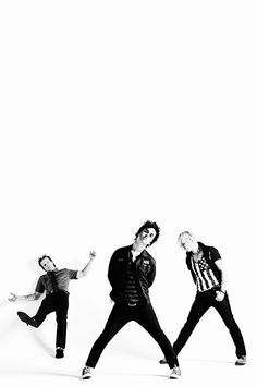 Billie, tre and mike from Green day Indie Clothing Brands, Green Day Billie Joe, Hello Green, Jason White, Billie Joe Armstrong, Indie Outfits, Rock Music, Music Music, Music Stuff