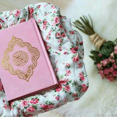quran - I wish I knew where I could get one this beautiful, I'd buy it for every sister I know too. The words are beautiful inside no matter what the outside looks like..but I do love when the outside also reflects the inside <3