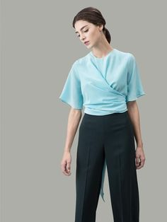 587b30dbf9788e The Martha silk wrap shirt  Appalachian Spring Wrap Shirt
