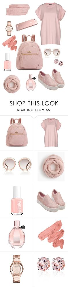 Kipling | Antique Rose by kiplingusa on Polyvore featuring Balmain, Marc by Marc Jacobs, Belk & Co., J.Crew, Portolano, Chloé, Viktor & Rolf and Essie