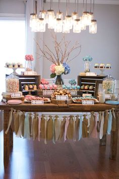"""A """"Blue or Pink: What Do You Think?"""" themed gender reveal party!"""