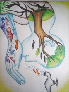 Please save water for our future Earth Drawings, Art Drawings For Kids, Art Drawings Sketches Simple, Save Earth Drawing, Nature Drawing, Save Earth Posters, Save Water Posters, Save Water Poster Drawing, Drawing Competition
