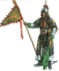 "0220 : 0280 Chinese Crossbowman. Chu-Ko-Nu ""repeating crossbow"" is attributed to Chinese strategist Zhuge Liang"