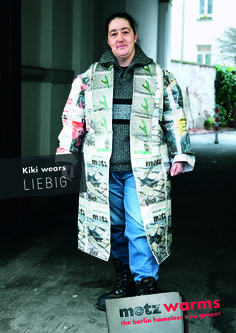 Motz is the most popular magazine for homeless people in the German capital. For the campaign, international known top designers created coats made of the motz newspaper. At a press conference homeless people presented them to the public to gain attention for their situation, especially in the winter months.
