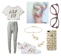 """""""House day"""" by thais-chavez-maggi on Polyvore featuring moda, James Perse, Abercrombie & Fitch, adidas Originals, Tate y Kenneth Jay Lane"""