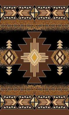 Apache Southwestern Arizona Woven 8x11 Area Rug Black Actual Size 7'10 x10'10