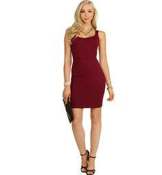 Alternate View - FINAL SALE- Burgundy Get Your Ex Back Dress