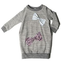 Bow Sweatshirt Dress  by Anais & I