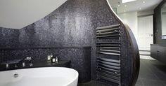 black #mosaic Bisazza #bathroom  - London