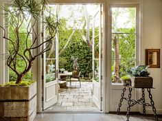A Revamped Garden Design Magazine Returns. French Doors PatioFrench ...