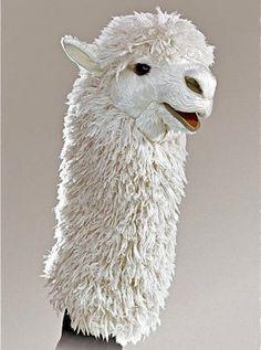 Alpaca hand puppet!