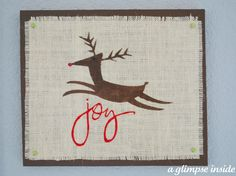 how to Burlap a Christmas Wall Art by glimpse inside