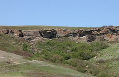 Head-Smashed-In Buffalo Jump Special Place Provincial Historic Resource, near Fort Macleod (Historic Resources Management Branch, June Resource Management, Buffalo, Past, June, Country Roads, Memories, Explore, Mountains, Places