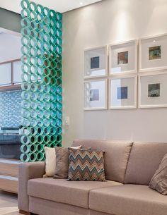 15+ Extraordinary Projects to Make with PVC Pipes Deco Design, Design Case, Condo Living, Living Room Decor, Dining Room, Diy Room Divider, Room Dividers, My Dream Home, Diy Home Decor